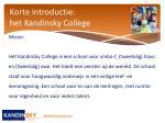 korte introductie het kandinsky college