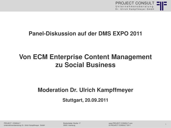 von ecm enterprise content management zu social business n.