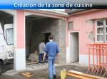 cr ation de la zone de cuisine