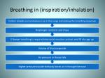 breathing in inspiration inhalation