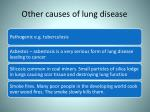 other causes of lung disease