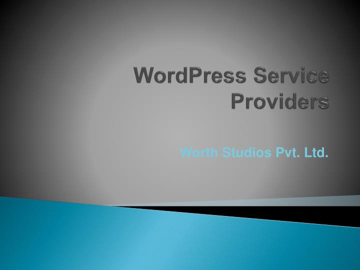 wordpress service providers n.