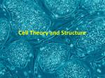 cell theory and structure