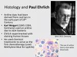 histology and paul ehrlich