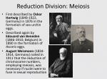 reduction division meiosis