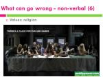 what can go wrong non verbal 6