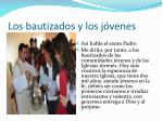 los bautizados y los j venes