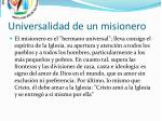 universalidad de un misionero