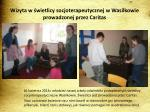 wizyta w wietlicy socjoterapeutycznej w wasilkowie prowadzonej przez caritas
