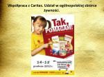 wsp praca z caritas udzia w og lnopolskiej zbi rce ywno c i