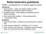 rizik bankov ho podnikania