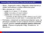 usnesen rady m sta karvin 778 ze dne 28 ervna 2011