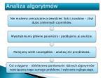 analiza algorytm w2