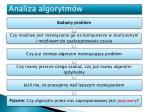 analiza algorytm w3