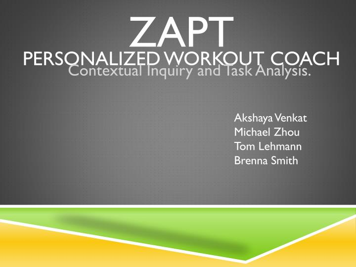 zapt personalized workout coach n.