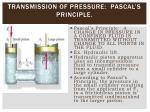 transmission of pressure pascal s principle