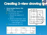 creating 3 view drawing