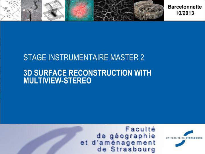 stage instrumentaire master 2 3d surface reconstruction with multiview stereo n.