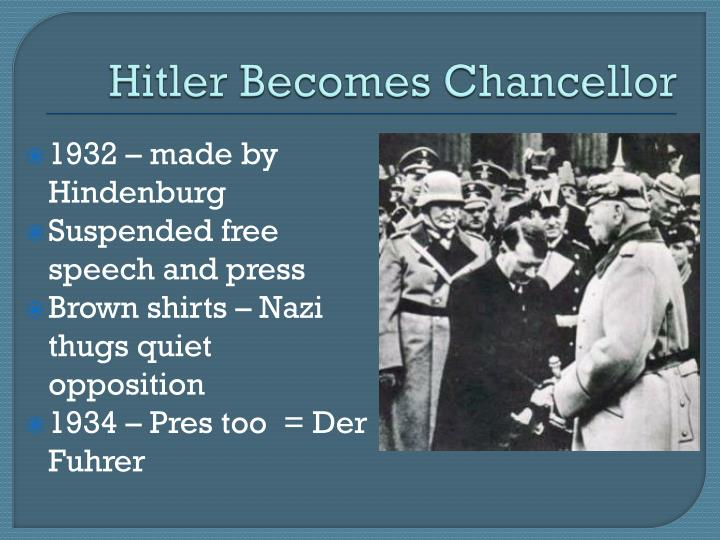Hitler Becomes Chancellor