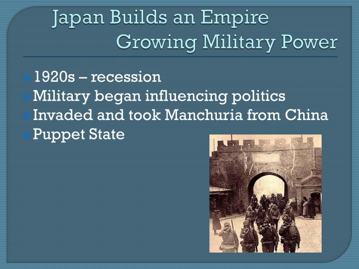 Japan Builds an Empire