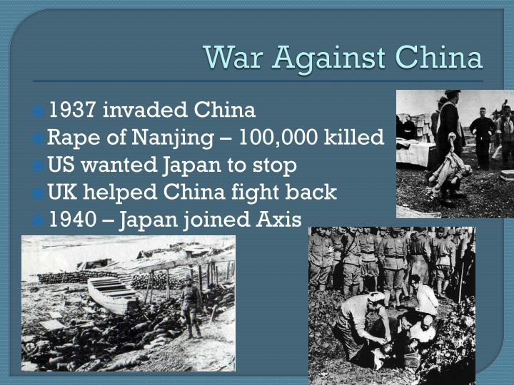 War Against China