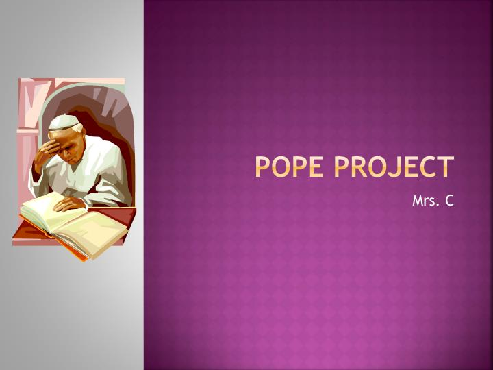 pope project n.