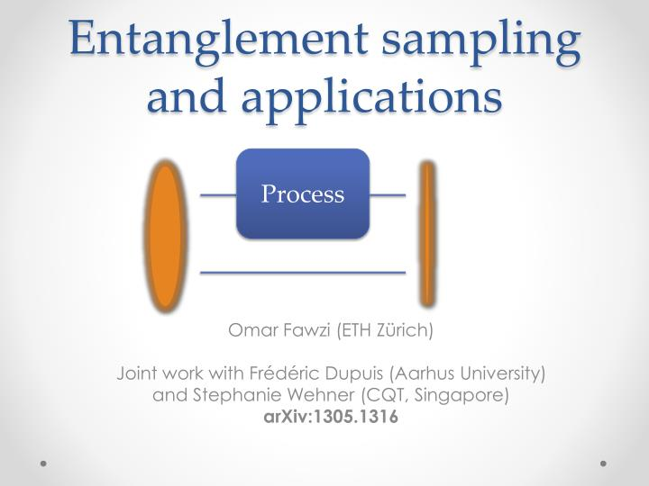 entanglement sampling and applications n.