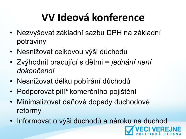 VV Ideová konference