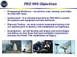 peo iws objectives