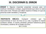 iii discernir el error
