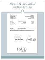 sample documentation contract invoices
