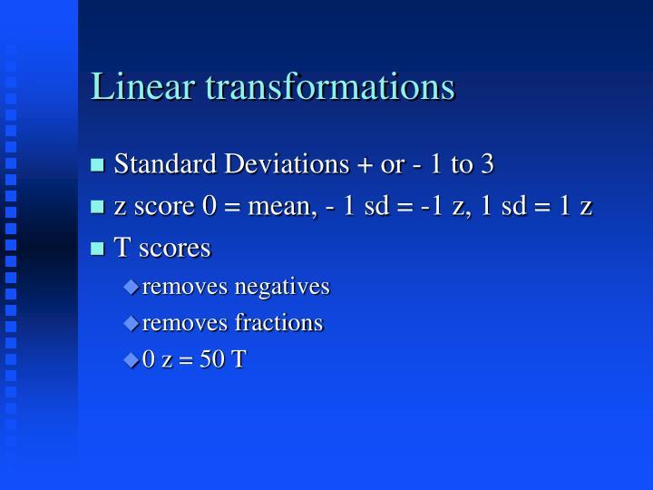 Linear transformations