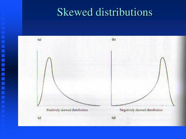 Skewed distributions