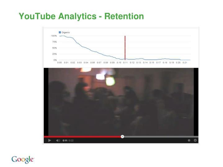 YouTube Analytics - Retention
