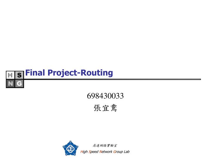 final project routing n.