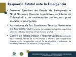 respuesta estatal ante la emergencia