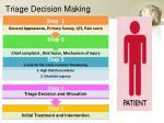 triage decision making
