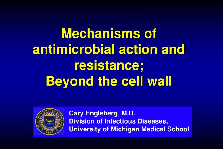 mechanisms of antimicrobial action and resistance beyond the cell wall n.