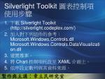 silverlight toolkit1