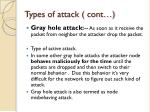 types of attack cont