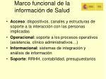 marco funcional de la informaci n de salud