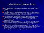 municipios productivos