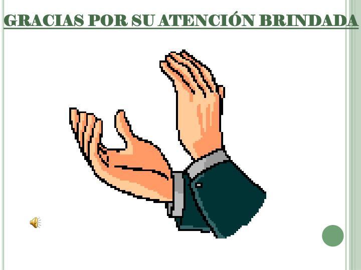 GRACIAS POR SU ATENCIÓN BRINDADA