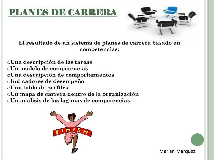 PLANES DE CARRERA