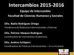 intercambios 2015 20161