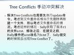 tree conflicts