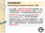 technology acceptance model tam