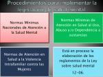 procedimientos para implementar la legislaci n de salud mental
