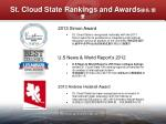 st cloud state rankings and awards