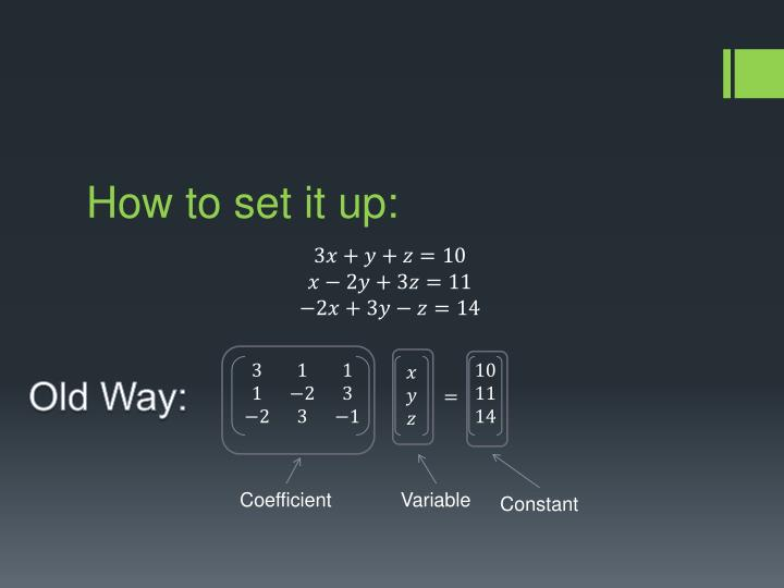 How to set it up: